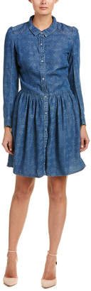 The Kooples Floral Denim A-Line Dress