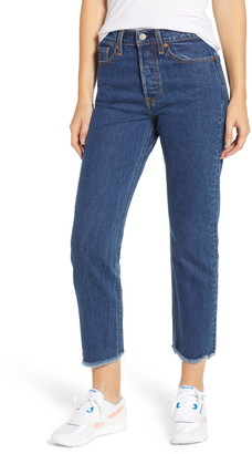 Levi's Wedgie High Waist Ankle Straight Leg Jeans