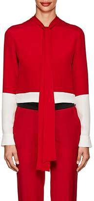 Derek Lam Women's Colorblocked Silk Blouse