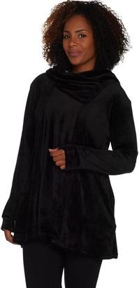 Cuddl Duds Double Plush Velour Cowl Hood Wrap