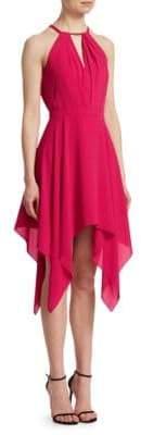 Halston Beaded Halter Dress