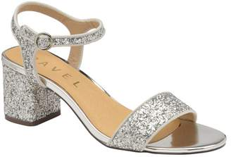 Ravel Silver 'Gurley' Ladies Block Heeled Sandals