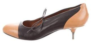 Dries Van Noten Rounded-Toe Leather Pumps