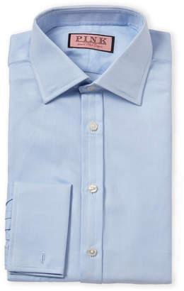 Thomas Pink Pale Blue Twill French Cuff Dress Shirt