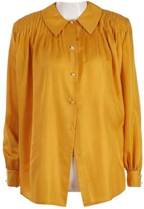 Gucci Yellow Silk Tops