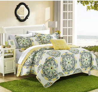 Chic Home Madrid 8 Piece King Bed in a Bag Quilt Set Bedding