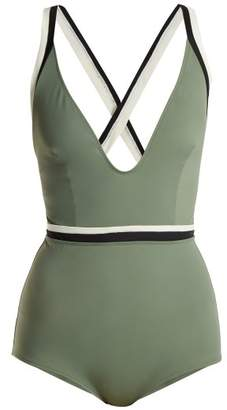 Solid & Striped The Alison Swimsuit - Womens - Khaki