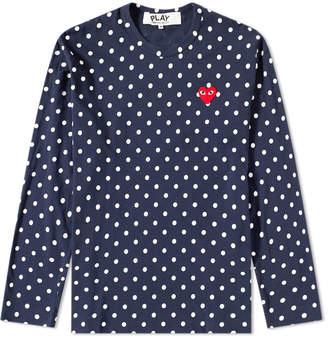 Comme des Garcons Long Sleeve Polka Dot Tee