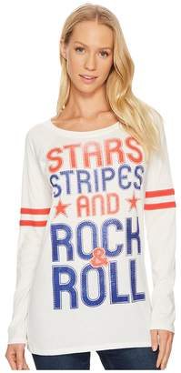 Rock and Roll Cowgirl Long Sleeve T-Shirt 48T1226 Women's T Shirt