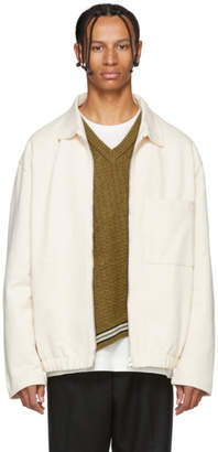 Lemaire White Jersey Jacket