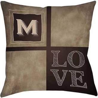 Thumbprintz Chalkboard Monogram Neutral Decorative Pillows