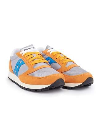 online retailer e8567 eece5 Saucony Jazz Original Vintage Trainers Colour  Orange Grey Blue, Size