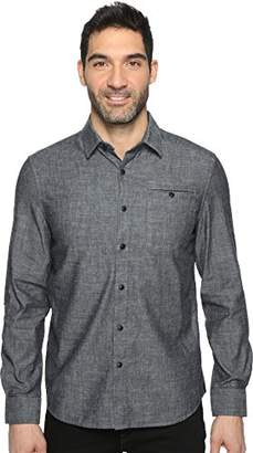 Kenneth Cole New York Men's Long Sleeve Chambray Besom Pocket