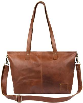 MAHI Leather - Leather Tote in Vintage Brown