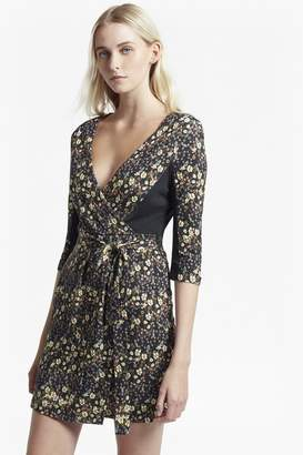 French Connection Hallie Print Jersey Wrap Dress
