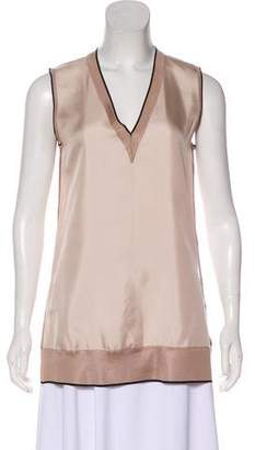 Rag & Bone Silk V-neck Sleeveless Top