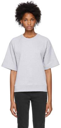 Tibi Grey Short Sleeve Sweatshirt