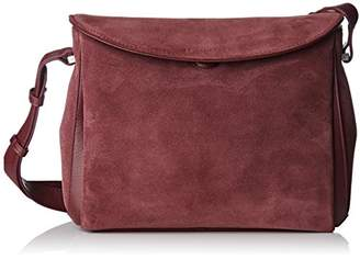 Le Tanneur Anae Velours, Women's Shoulder bag, Violet (Rose Grenade), (W x H L)