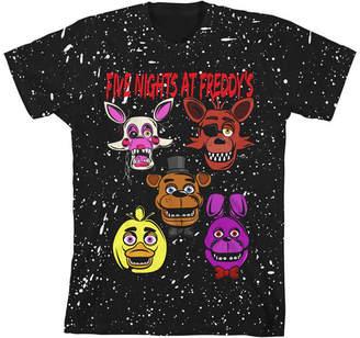 Novelty T-Shirts Boys Crew Neck Short Sleeve Five Nights at Freddys Graphic T-Shirt - Preschool / Big Kid