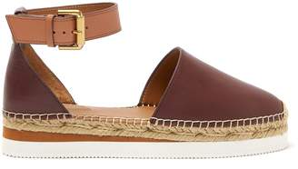 See by Chloe Raised-sole leather espadrilles