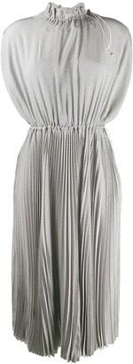 Fendi toggle detailed pleated dress