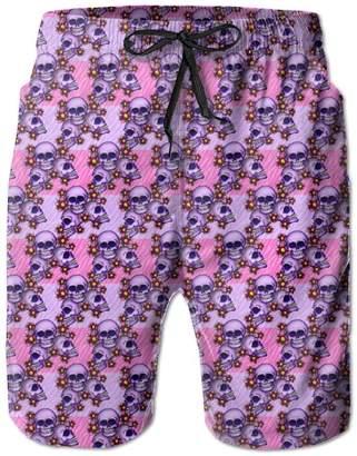 Trunks XCTP Purple Skull Flower Guys Summer Short Loose Jogging