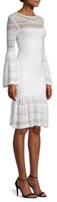 Herve Leger Knit Bell-Sleeve Bandage Dress