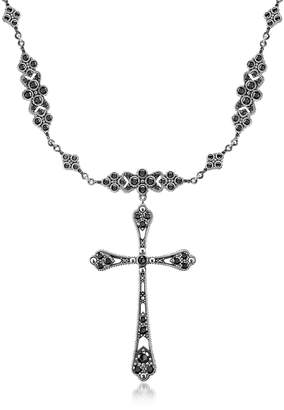 Thomas Sabo Royalty Cross w/Black Stones Necklace
