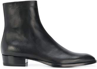 Saint Laurent side zip ankle boots