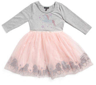 Little Girls Unicorn Tutu Dress