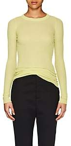 Rick Owens Women's Rib-Knit Long-Sleeve T-Shirt - Lime