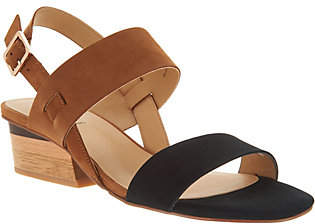 VANELi Leather Color Blocked Heeled Sandals -Caryna