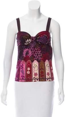 Valentino Wool & Silk-Blend Intarsia Top w/ Tags
