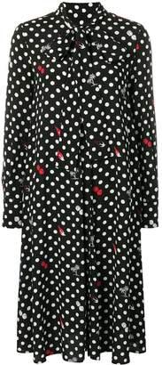 McQ polka dot print midi dress