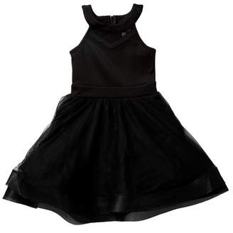 Love, Nickie Lew Horsehair Hem Party Dress (Big Girls)