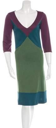 Louis Vuitton Midi Colorblock Dress