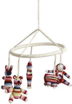 Anne Claire Hand-Crocheted Crib Mobile With Animals