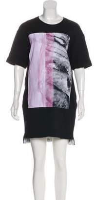 Helmut Lang Printed Sweatshirt Dress Black Printed Sweatshirt Dress