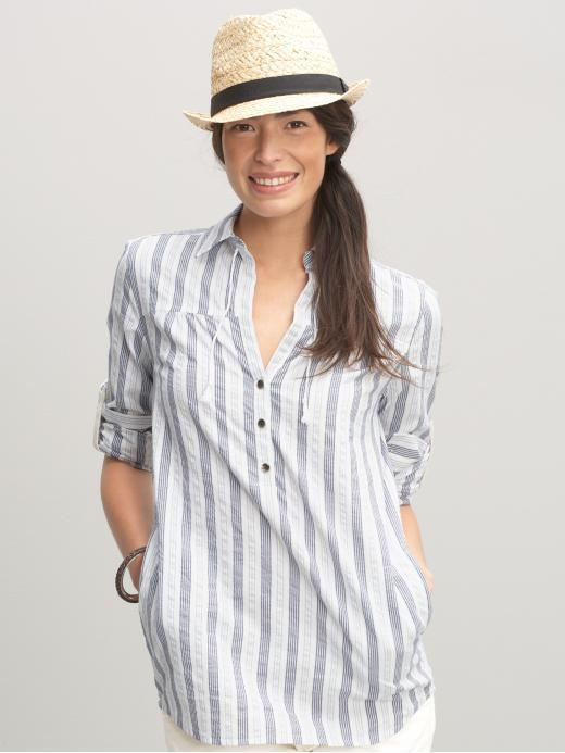 Heritage striped boyfriend tunic
