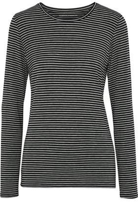 Majestic Filatures Striped Stretch-Jersey Top