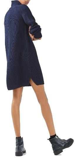 Women's Topshop Grunge Funnel Neck Sweater Dress 5