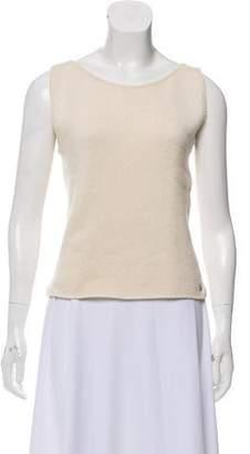 Chanel Silk & Cashmere Sleeveless Top