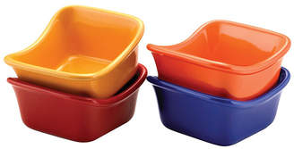 Rachael Ray Serveware Lil' Saucy Squares Stoneware Dipping Cups Set