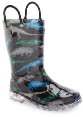 Western Chief 'Dinosaur Friends' Light-Up Rain Boot