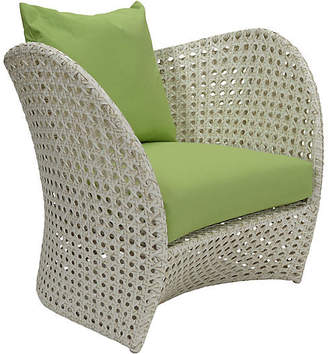 David Francis Furniture South Beach Outdoor Lounge Chair - Green Sunbrella