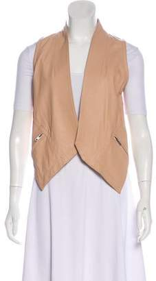 Yigal Azrouel Cut25 by Leather Open Front Vest