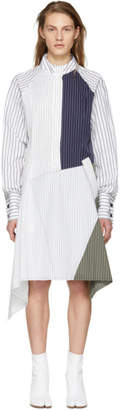 J.W.Anderson White Patchwork Shirt Dress