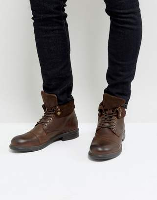 Dune Military Boot With Suede