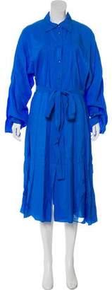 Nina Ricci Lace-Trimmed Shirt Dress w/ Tags