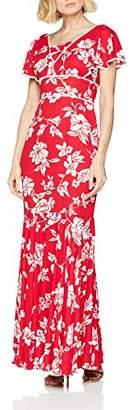 Gina Bacconi Women's Lulu Floral Chiffon Maxi Party Dress,8